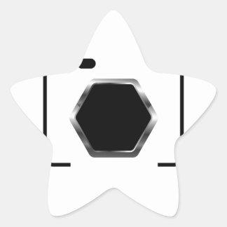 Camera with aperture star sticker