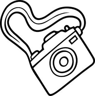 Camera With Strap Postcard