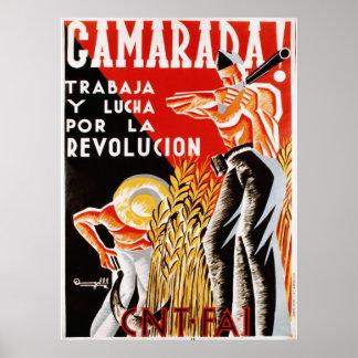 Camerada! cartel [Comrades poster]