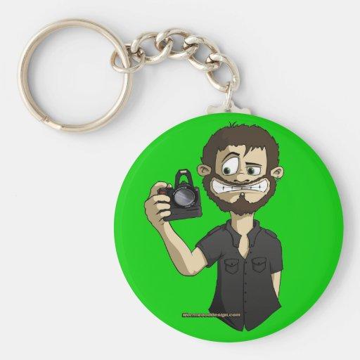 Cameraman Basic Round Button Keychain