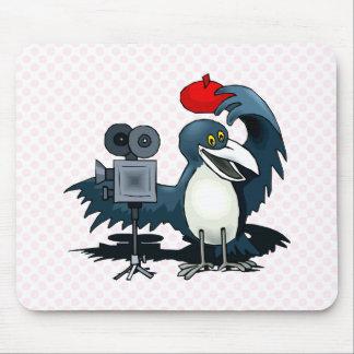 Cameraman Crow Mouse Pad