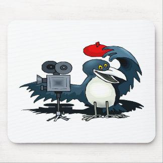 Cameraman Crow Mousepads