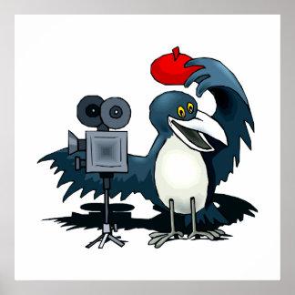 Cameraman Crow Posters