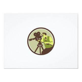 Cameraman Director Vintage Camera Retro 6.5x8.75 Paper Invitation Card