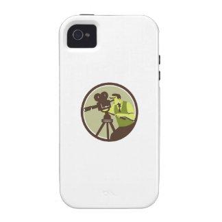 Cameraman Director Vintage Camera Retro Case-Mate iPhone 4 Covers