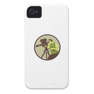 Cameraman Director Vintage Camera Retro Case-Mate iPhone 4 Cases