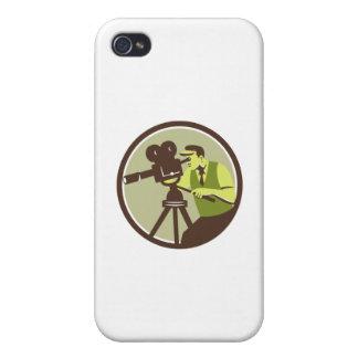 Cameraman Director Vintage Camera Retro iPhone 4/4S Covers