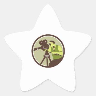 Cameraman Director Vintage Camera Retro Star Sticker