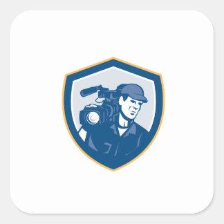 Cameraman Film Crew HD Camera Video Shield Retro Sticker