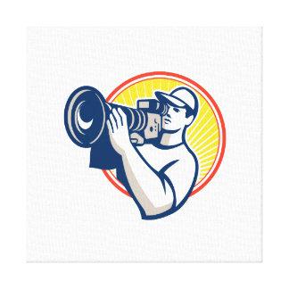 Cameraman Film Crew HD Video Camera Gallery Wrapped Canvas