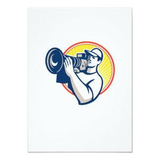 Cameraman Film Crew HD Video Camera 11 Cm X 16 Cm Invitation Card