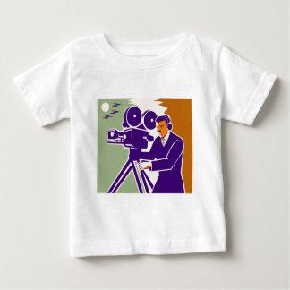 Cameraman Film Crew Vintage Video Movie Camera Baby T-Shirt