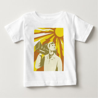 Cameraman Film Crew With Video Camera Infant T-shirt