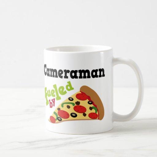 Cameraman (Funny) Pizza Coffee Mug
