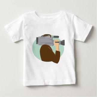 cameraman movie video camera side retro baby T-Shirt