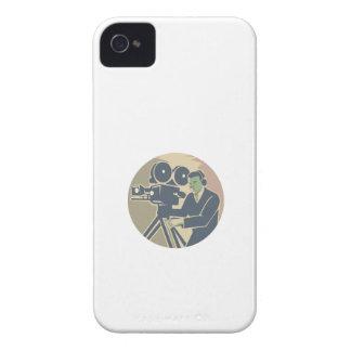 Cameraman Moviemaker Vintage Camera Retro iPhone 4 Cases