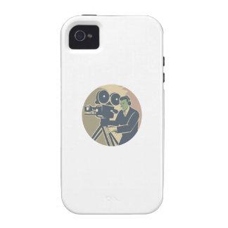 Cameraman Moviemaker Vintage Camera Retro iPhone 4/4S Cases