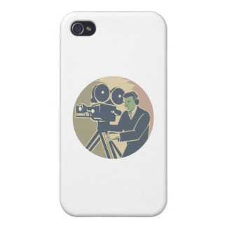 Cameraman Moviemaker Vintage Camera Retro Covers For iPhone 4