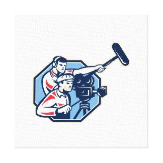 Cameraman Vintage Camera Soundman Boom Retro Gallery Wrap Canvas