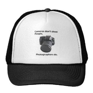 Cameras don't shoot people trucker hat