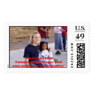 Cameron at orphanage postage stamp