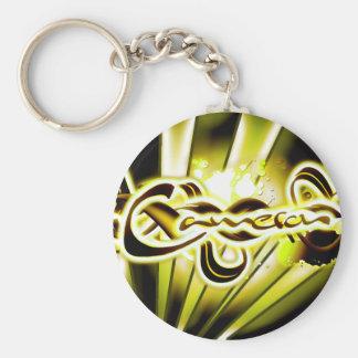 Cameron Basic Round Button Keychain