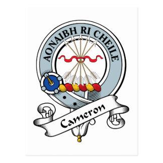 Cameron Clan Badge Postcard