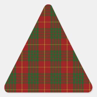 Cameron Clan Family Tartan Triangle Sticker