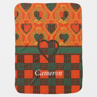 Cameron clan Plaid Scottish tartan Receiving Blanket