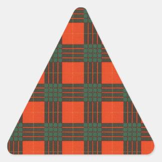 Cameron clan Plaid Scottish tartan Triangle Sticker