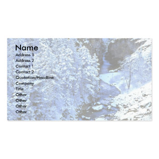 Cameron Creek, Waterton Lakes National Park, Canad Business Card