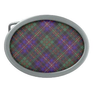 Cameron del tartán del escocés de Erracht Hebilla De Cinturon Oval