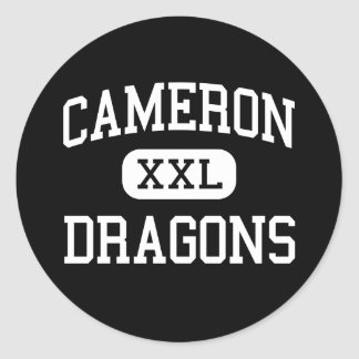 Cameron - Dragons - High School - Cameron Missouri Round Stickers
