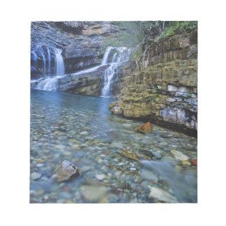 Cameron Falls in Waterton Lakes National Park in 2 Memo Pad