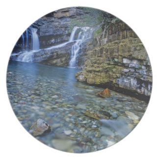 Cameron Falls in Waterton Lakes National Park in 2 Plate