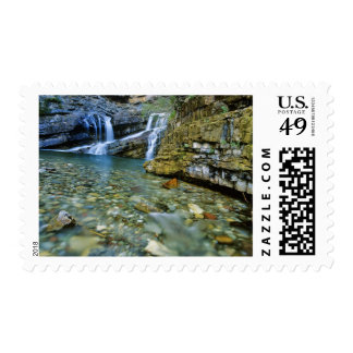 Cameron Falls in Waterton Lakes National Park in Postage