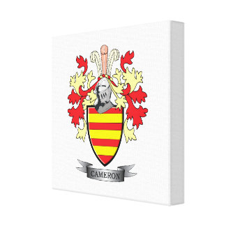 Cameron Family Crest Coat of Arms Canvas Print