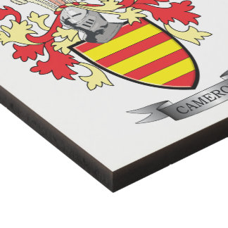 Cameron Family Crest Coat of Arms Panel Wall Art