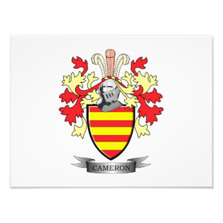 Cameron Family Crest Coat of Arms Photo Print