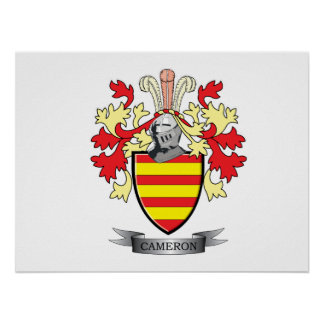 Cameron Family Crest Coat of Arms Poster
