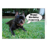 Cameron Happy Birthday French Bulldog Card