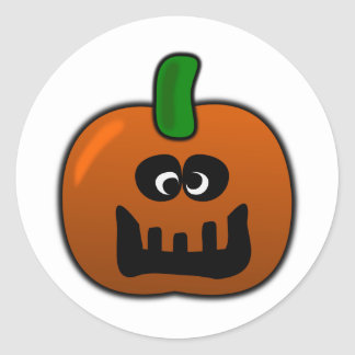Cameron, la calabaza tonta de Halloween Etiqueta Redonda