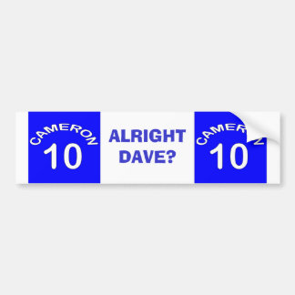 Cameron ~ Number 10 ~ Political U.K Bumper Sticker