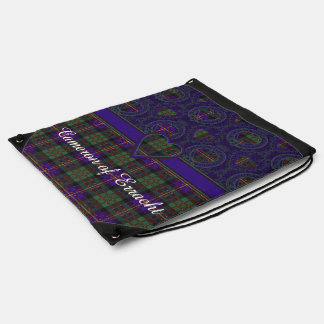 Cameron of Erracht clan Plaid Scottish tartan Drawstring Bag