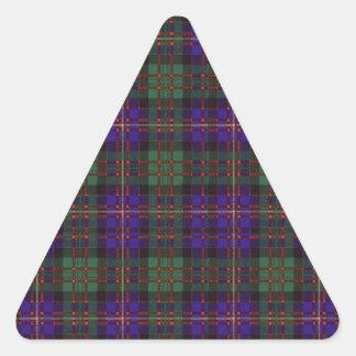 Cameron of Erracht clan Plaid Scottish tartan Triangle Sticker