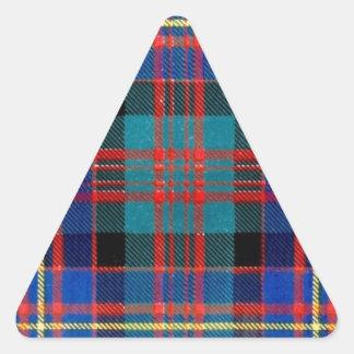 CAMERON of ERRACHT FAMILY TARTAN Triangle Sticker