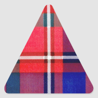 CAMERON of LOCHIEL FAMILY TARTAN Triangle Sticker