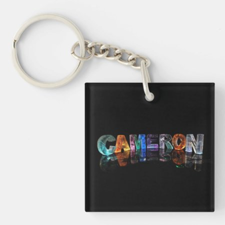 Cameron - Old Fashioned Names in 3D Lights Key Chain