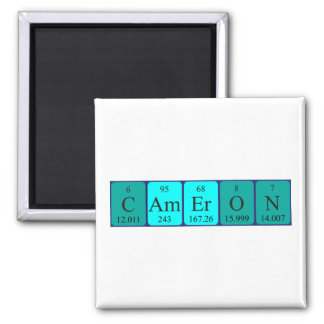 Cameron periodic table name magnet