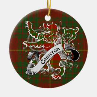 Cameron Tartan Lion Ceramic Ornament